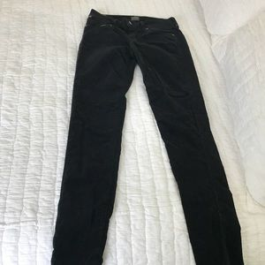 Black suede Citizens of Humanity jeans